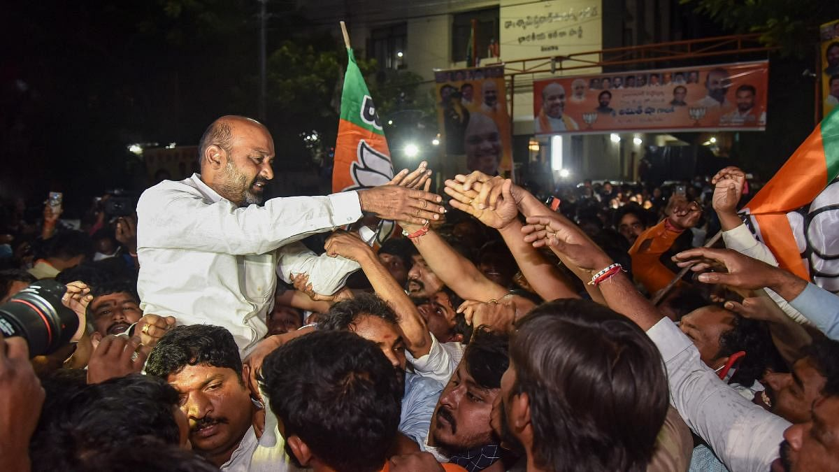 BJP wins big in Hyderabad polls, ups tally by 10 times as TRS misses halfway mark