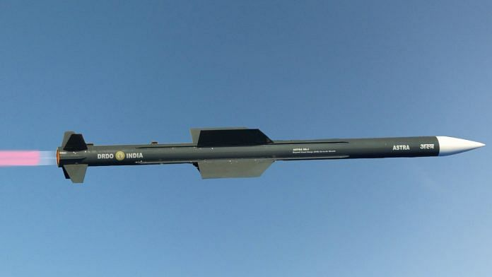 India working on next 'Astra' missile with 160 km range as Mk1 is  integrated in IAF & Navy