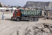 A development site at Marine Drive in Gwadar, Balochistan, Pakistan