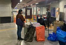 A passenger at a Covid test kiosk inside ITO metro station in Delhi, on 4 December 2020 | Aneesha Bedi | ThePrint