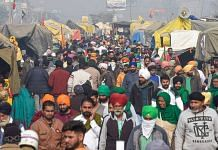 Farmers at Singhu border who have been protesting against three new farm laws, in New Delhi 26 December 2020 | Kamal Singh | PTI