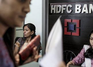 Women employees working in an HDFC Bank Ltd. branch in Mumbai, India | Bloomberg File Photo