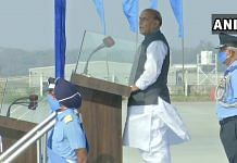 Defence Minister Rajnath Singh at the Combined Graduation Parade at Airforce Academy in Dundigal, in Hyderabad | ANIPix