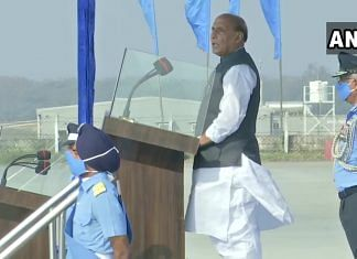 Defence Minister Rajnath Singh at the Combined Graduation Parade at Airforce Academy in Dundigal, in Hyderabad   ANIPix