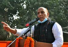 Union Minister Rajnath Singh addressing a rally at Dwarka in Delhi on 25 December 2020 | Twitter/@rajnathsingh