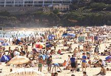 Crowds at Bondi Beach on 27 December 27 in Sydney, Australia | Photo Mark Evans