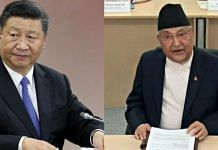 File images of Chinese President Xi Jinping and Nepal PM K.P.S. Oli | Bloomberg and ANI
