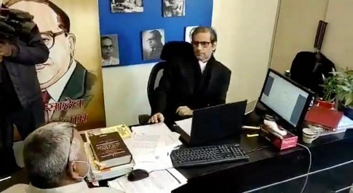 Raids at the office of advocate Mehmood Pracha | ThePrint screenshot