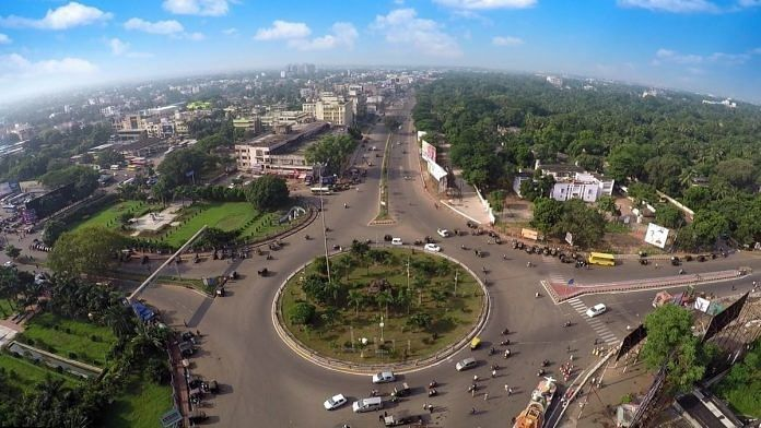 Representational image. | An aerial view of Master Canteen Square in Bhubaneswar, Odisha. | Photo: Commons