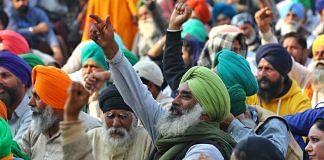 Farmers protesting at Singhu border | Photo: Suraj Singh Bisht | ThePrint