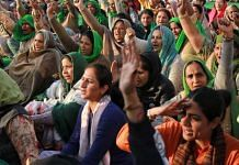 Farmers protesting at Singhu border | Photo: Manisha Mondal | ThePrint