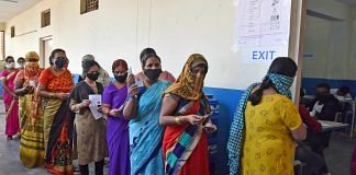 Voters standing in a queue at a polling booth during the GHMC Election, in Hyderabad on 1 December   ANI Photo