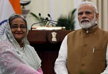 A file photo of Prime Minister Narendra Modi and his Bangladesh counterpart Sheikh Hasina. | Photo: ANI
