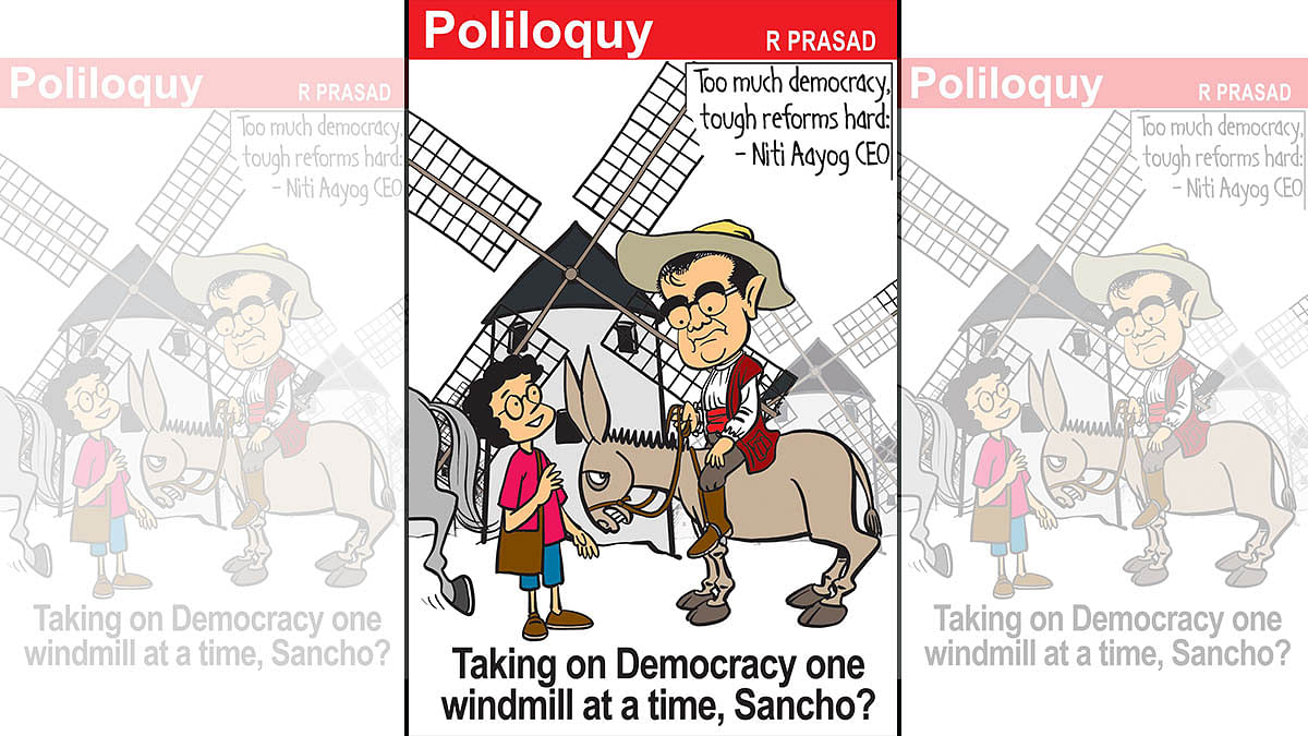 Niti Aayog's quixotic turn, and a 'shaking' 73-year-old ...