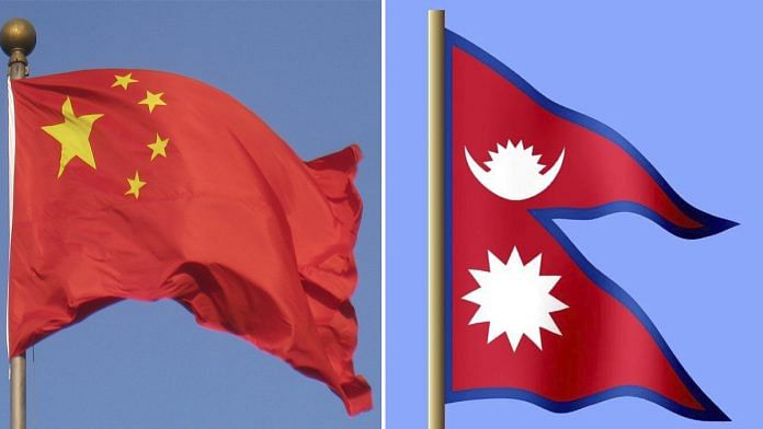 Representational image | National flags of China and Nepal | Commons