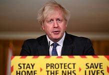 UK Prime Minister Boris Johnson speaks during a coronavirus press conference at 10 Downing Street on January 22, 2021 in London, England. | Photo by Leon Neal | Getty Images via Bloomberg