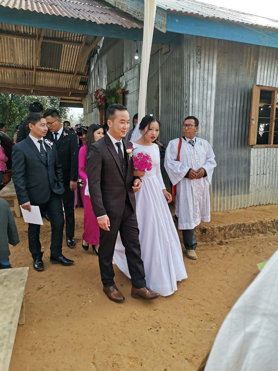 Dingamang Pamei with his wife   By special arrangement