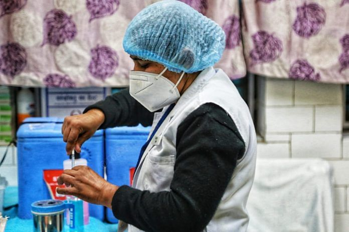 Healthcare workers, frontline workers, people aged above 50 and those below 50 years but with co-morbidities |Photo: Manisha Mondal | ThePrint