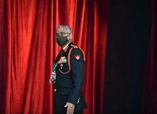 Army chief General M.M. Naravane addresses press on 12 January in New Delhi | ThePrint photo