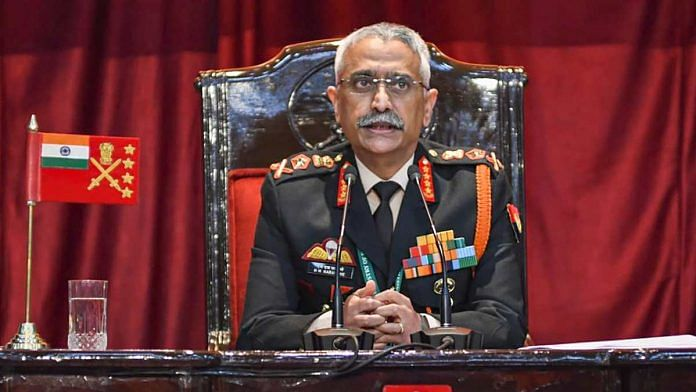 Army Chief General M M Naravane addresses an annual press conference at the Manekshaw Centre in New Delhi on 12 January 2021 | Vijay Verma| PTI