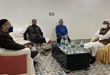Asaduddin Owaisi during a meeting with Muslim leaders at Furfura Sharif in West Bengal on 3 January 2021