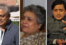 Journalists Rajdeep Sardesai, Mrinal Pande, Congress MP Shashi Tharoor |