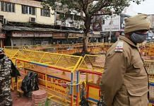 Heavy police presence at the site of the Hanuman temple demolished in the small hours of 3 January 2021 | Manisha Mondal | ThePrint