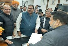 INLD leader Abhay Chautala submits his resignation as MLA to the Haryana assembly speaker Wednesday | Twitter | @OfficialINLD