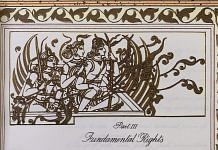 Part III of the Indian Constitution, illustrated with Ram, Sita and Lakshman | Twitter