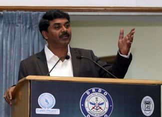 File photo of DRDO Chairman G Satheesh Reddy | Twitter @DRDO_India