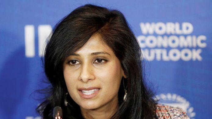File photo of IMF chief economist Gita Gopinath | Reuters Photo via ANI