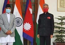 Nepal Foreign Minister Pradeep Kumar Gyawali with External Affairs Minister S. Jaishankar in New Delhi on 15 January 2021 | Twitter | @EONIndia