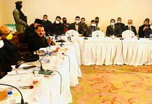 A meeting of the Parliamentary Standing Committee delegation in Srinagar