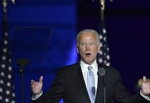 US President-elect Joe Biden during an election event in Wilmington, Delaware
