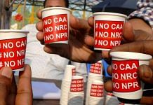 Activists at an anti-CAA and NRC protest in March 2020 | ANI File Photo