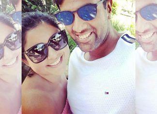 Cricketer Ravichandran Ashwin with wife Prithi | Twitter | @prithinarayanan