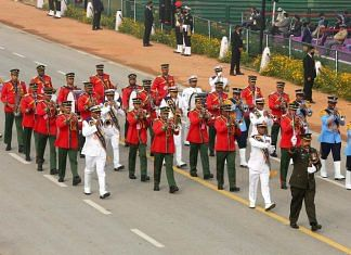 Bangladesh armed forces contingent during the full dress rehearsal for the upcoming Republic Day Parade, in New Delhi on Saturday   ANI