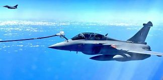 A Rafale fighter jet of the IAF getting refuelled mid-air   File image   Credit: IAF
