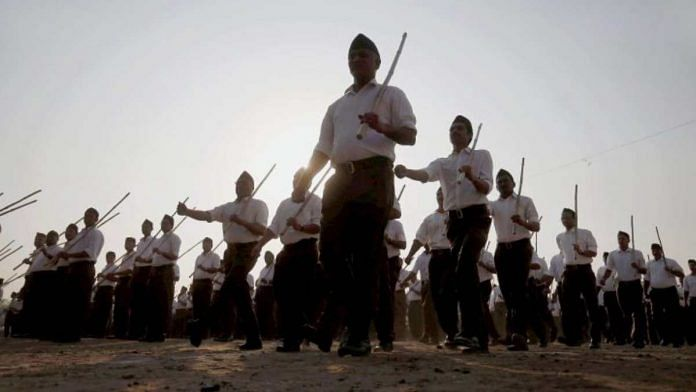 File image of RSS volunteers | PTI
