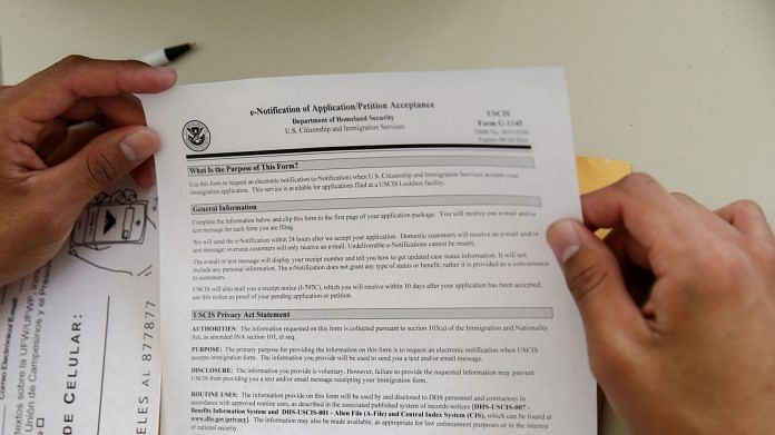 An application to the US Citizenship and Immigration Services | Representational image | Photo: Patrick T. Fallon | Bloomberg Photo