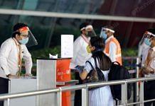 Representational image | A woman traveller outside the gates of the IGI airport in Delhi | Suraj Bisht | ThePrint