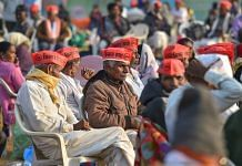 Farmers assemble at Azad Maidan to participate in the 'Akhil Bharatiya Kisan Sabha' in Mumbai on 25 January