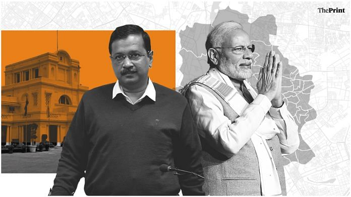 Delhi CM Arvind Kejriwal and PM Narendra Modi | ThePrint Team