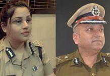 Karnataka IPS officers D. Roopa (left) and Hemant Nimbalkar   Photos: Twitter