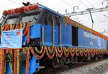 The inauguration of the 306-km New Rewari-New Madar section of the Western Dedicated Freight Corridor at the New Kishangarh station near Ajmer on 7 January. | Photo: ANI