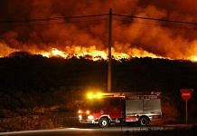 A forest fire in Galicia, Spain | Commons