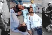 A screenshot from the viral video of the assault in Kardam Puri on 24 February 2020. | Photo: Twitter