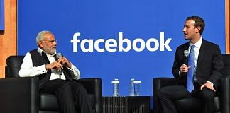 Prime Minister Narendra Modi and Facebook CEO Mark Zuckerberg at the Facebook HQ in San Jose, California | PIB | File photo