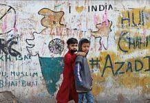 Children in Delhi's Brijpuri area that was hit by communal riots a year ago in February 2020 | Photo: Manisha Mondal | ThePrint