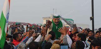 BKU leader Rakesh Tikait at mahapanchayat in Haryana's Jind | Suraj Singh Bisht | ThePrint